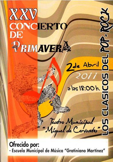 """Programa de mano, """"Los cásicos del Pop-Rock"""", dirigido por Antonio Domingo."""